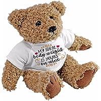 Mi Cuerpo Ideal Peso es suyo sobre el mío oso de peluche, regalo amor aniversario Funny