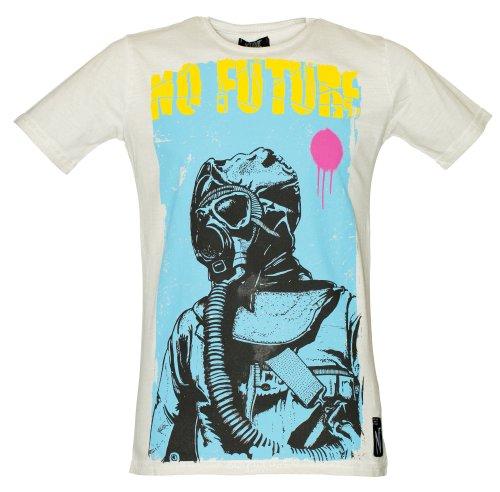NO FUTURE Herren T-Shirt, Gas Mask, Street Couture, offwhite, NF/GAS-12-011, GR XL