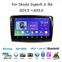 For Skoda Superb 2 B6 2013~2015 Sat Nav Double Din Car Stereo Radio GPS Navigation 9 Inch Head Unit Multimedia Player Video Receiver Carplay DSP RDS