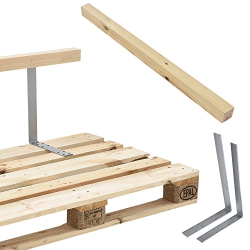 [en.casa] Rückenlehne für Euro-Paletten-Sofa massiv Holzoptik DIY Möbel - 4