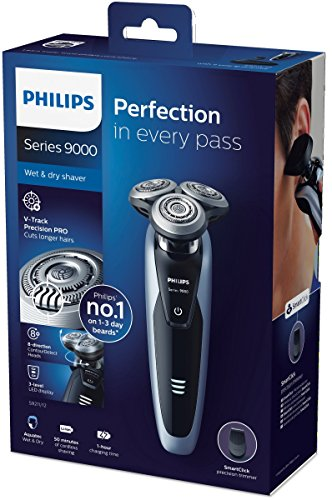 Philips Series 9000 Wet & Dry Men's Electric Shaver S9211/12 with Precision Trimmer (UK 2-Pin Bathroom Plug)