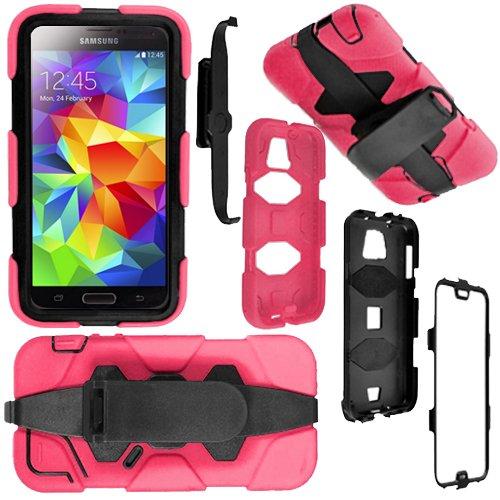 Monde de mobile®-antichoc robuste Garde Builders Coque avec clip ceinture et protection d'écran intégrée, rose, Apple IPhone 5 5S 5G
