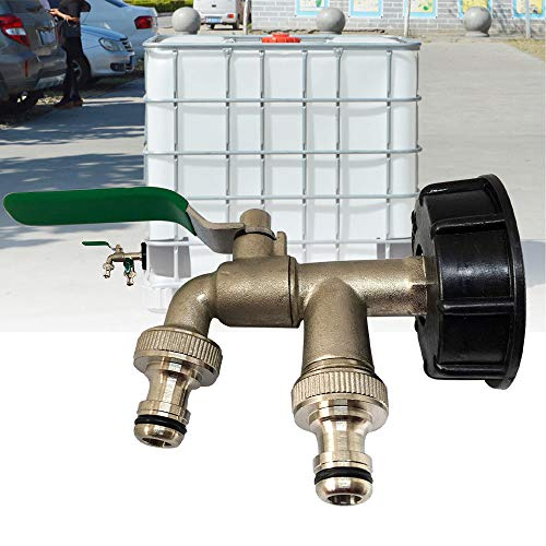 IBC Adaptador de tanque MASO de doble cabezal, adaptador de drenaje de...