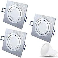 3W LED Einbaustrahler 230V DECORO Deckenstrahler Einbauleuchte Außenleuchte