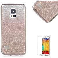 Custodia Samsung Galaxy S4,Funyye Glitter Brillare Oro Rosa Graduale Cambiano