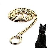 Starke Hund Metall Kette, Schlange Heavy Duty Halsband Hund Training Halsbänder Choke Halsband Halskette, Silber/Gold