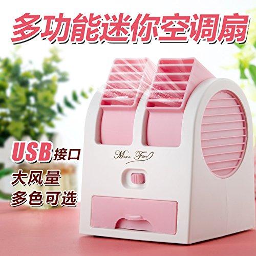 TJL piccole ventole, USB Mini refrigerazione mute aria condizionata ventilatori e piccoli computer in ufficio, dormitorio i letti di dorm,Nero [pre vendita]