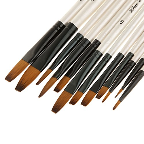 conjunto-de-12pcs-pelo-de-nylon-de-pintura-artista-pincel-plana-punta-blanca-de-manija