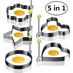 Ei Form Ei Shaper Ei Ring Pancake Formen Ei Form Edelstahlform Kochen Küchenwerkzeuge Packung mit 5