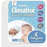 Babysom - Matelas Bébé Climatisé Eté/Hiver- Epaisseur 14cm, Anti acarien