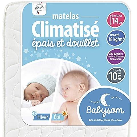 Babysom Matelas Climatisé 60 x 120 x 14 cm