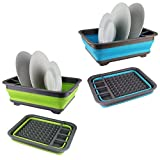 Collapsible Washing Up Bowl Dish Drainer Draining Folding Water Reusable Camping