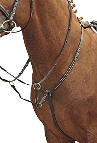 HKM 4000315620630 Vorderzeug mit Martingal, Beschläge Fb. gold9100 schwarzWarmblut