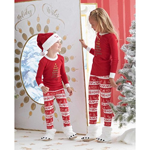 Sharplace Set Di Pigiami Due Pezzi Di Natale Da Famiglia Bambini Mamma Papà Invernale Morbido 4