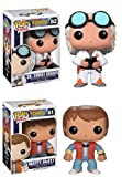 Back To The Future Funko Pop Vinyl Figure Set of 2 with Doc and Marty McFlyFNK-0339-B2