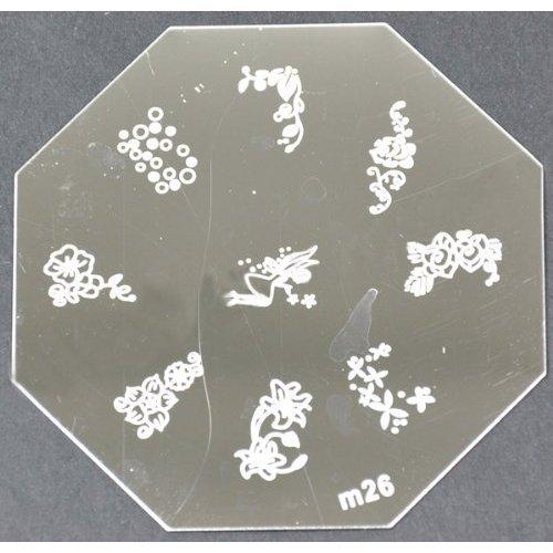 Nail Art emboutissage des tôles - M01 CODE : M26-plaque