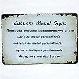 GKD 2 targhe Personalizzate in Metallo con targhette Personalizzate Personalizza 20x30 cm / 15x30 cm Dropshipping, 20x30 cm