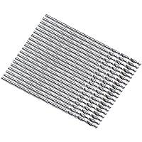 Broca de talatro torcido de cana recta - SODIAL(R)20 piezas metal ana recta 0.8mm Broca de talatro torcido