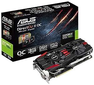 Asus GTX780TI-DC2OC-3GD5 NVIDIA GeForce GTX 780 TI Grafikkarte (PCI-e, 3GB GDDR5 Speicher, Dual Link DVI-I/-D, HDMI, DisplayPort, 1 GPU)