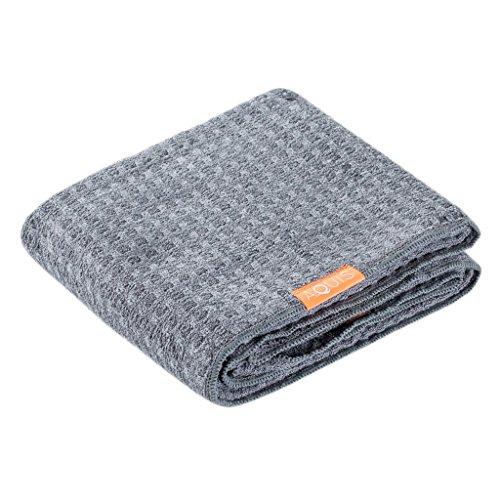 Aquis - Waffle Luxe Haartrockentuch, hoch saugfähiges und schnell trocknendes Handtuch aus Mikrofaserstoff für alle Haartypen, grau (48,3x 106,7cm) (Nicht Elektrische Haartrockner)