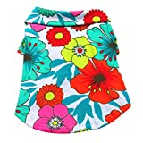 WeishenG Komfortables Design 1Pcs Pet Hawaiian Style Print T -Shirt Sommer Seaside Apparel for Pet Puppy Pet Personality Vest T -Shirt Haustiere Sommer Lieferung(None S Color)
