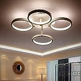 Lamps Geführtes Wohnzimmer, Schlafzimmer-Licht, Deckenleuchte-runder Art-einfacher moderner Acryl, drehbares Versprechen-Dimming, einfache atmosphärische Innenbeleuchtung,4,Versprechen verdunkeln