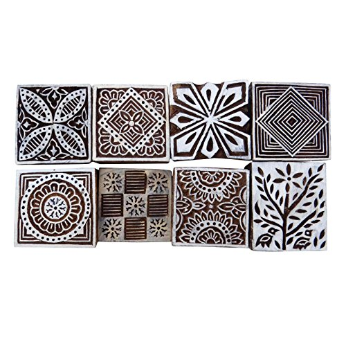 Keramik-block (Menge 8 Stück Keramik Stempel Blockprinting Hand Geschnitzt Textildruckblock)