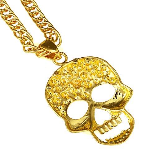 Hip hop Catena placcato oro 18K titanio