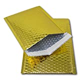 EPOSGEAR® 10GOLD DVD 250mm x 180mm glänzend metallic Folie Bubble Gepolsterte Tasche Versandtaschen
