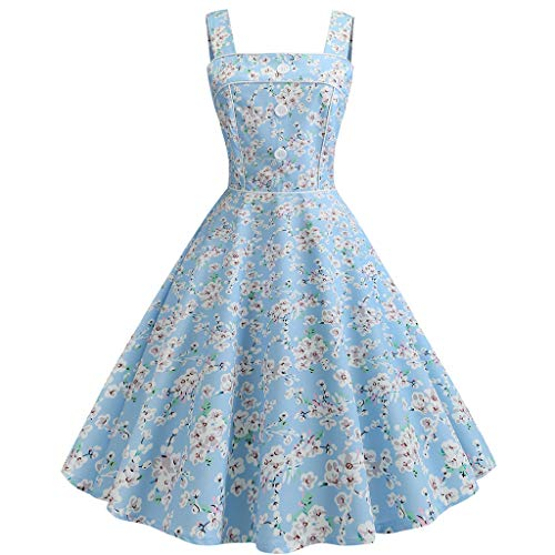 AIni Damen Vintage ÄRmelloses Elegant 50er Jahre Petticoat Kleider Gepunkte Rockabilly Kleider Cocktailkleider Partykleid Ballkleid Festkleid (Für Jahre 50er Jungen Kleidung)