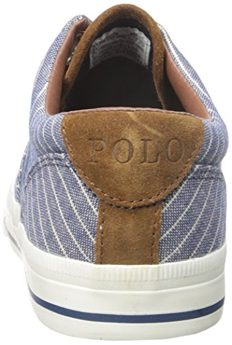 Polo Ralph Lauren Vaughn Suiting-stripe Fashion Sneaker Navy