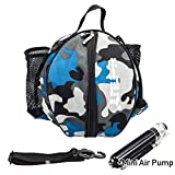 Nome del prodotto: y-nut basket borsa con pompa manualeDimensione: adatto per circonferenza non è una palla da basket standard (oltre 74,9cm)Confezione: 1borsa palla con un manuale di dimensioni mini pompa ad aria per la pallaColore: Camouflage blu...