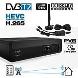 Crypto Redi 270P 1080P Full HD 1080P DVB-T2 HEVC H.265 décodeur TNT HD avec Dolby, Full Multimédia...
