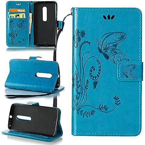 ZeWoo Funda de PU Piel - LD109 / Azul - para Samsung Galaxy J7 (2016) / J7 (2016) Duos (5,5 pulgadas)(NO para Samsung Galaxy J7 2015) carcasas y