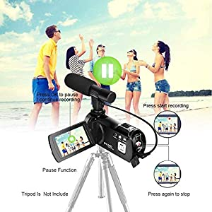 Camcorder-Camera-1080p30-Full-HD-Wifi-Camera-240-MP-Video-Camera-3-inch-LCD-Touch-Screen