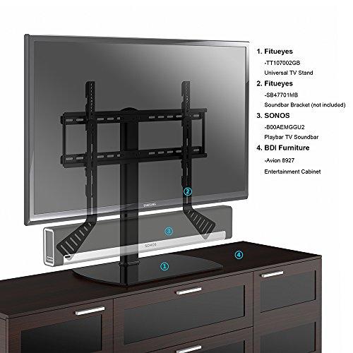 fitueyes meuble t l pied support tv pivotant pour t l led ecran pc de 32 pouce 65 pouce avec. Black Bedroom Furniture Sets. Home Design Ideas