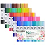 Best Brush Tip Markers - Newdoer 100 Colors Dual Brush Pen Art Markers Review