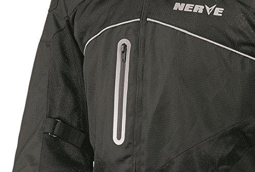 Run Nerve Motorista De Chaqueta Color Negro Verano NkX8n0wOP