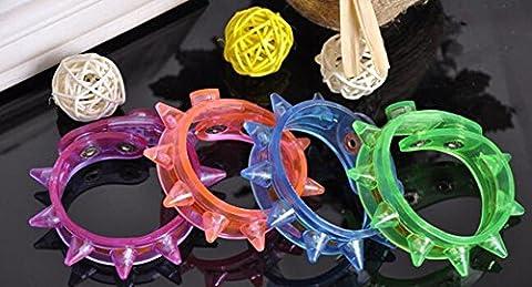 Ultra 48 Pack von gemischten Spike blinkende LED stacheligen Armband für Partys Veranstaltungen Funktionen feiern und vieles mehr