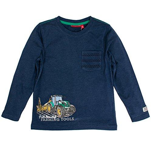 SALT AND PEPPER Jungen Longsleeve Farm Work Pocket Langarmshirt, Blau (Ink Blue Melange 481), 116 -