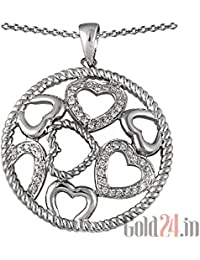 Lurie Jewellery Gold Pendant With Chain With Diamonds - B076Q6FWRC