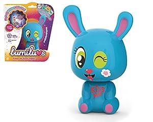 LUMILUVS TIgerHead Toys, Ltd. - Conejo Mascotas Electrónicas con Luz y Sonidos. , Color Azul (59354)