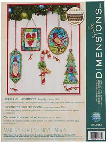 r Kreuzstick Set, Pack of 5, Jingle Bell Ornament ()