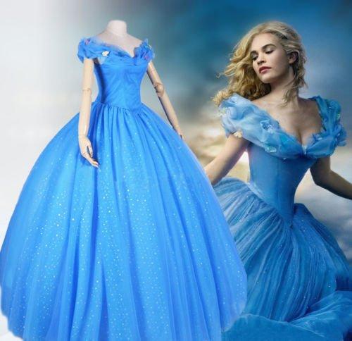 Für Kostüme Maßgeschneiderte Erwachsene (Sunkee 2015 New Disney Movie Sandy Princess Cinderella Dress Cosplay Costume ,Maßgeschneiderte,Größe S: Höhe)