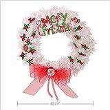 hhlwl Weihnachtstags-Kranz-Tür-Hängende Weiße Maschen-Stern-Szene Mit Hellem Hängendem Props Decoration, A