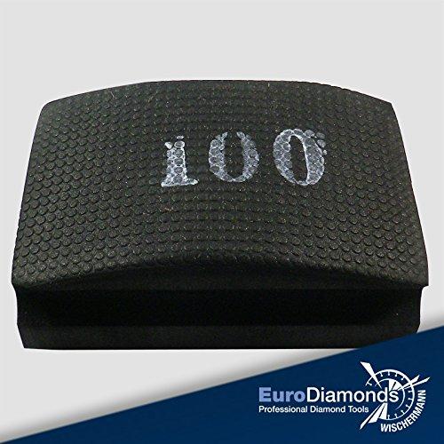 Das Original Profi Diamant Handschleifpad / Schleifschwamm, Körnung 100, zum schleifen, polieren und entgraten von Naturstein, Granite, Kunststein und Glaskanten