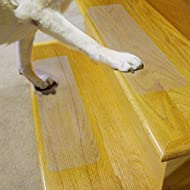 """Puppy Treads Self-Adhering Non-Slip Tread (4 Pack), 6 x 24"""", Clear"""