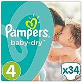 Pampers Baby-Dry Größe 4, 8-16 kg, 34 Stück