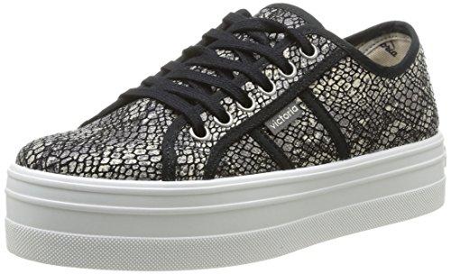 victoria - Blucher Reptil Lona, Sneakers  da donna, nero(schwarz (negro)), 39