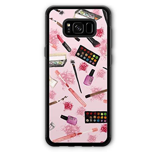 Kosmetik Make Up Muster - Silikon Hülle für Samsung Galaxy S8+ Plus - Motiv Design Mädchen Frauen Damen Cool Lustig Witzig Schön - Cover Handyhülle Schutzhülle Case Schale -